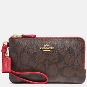 ❗NEW WITH TAGS❗●COACH DOUBLE ZIP WRISTLET ♥️❣